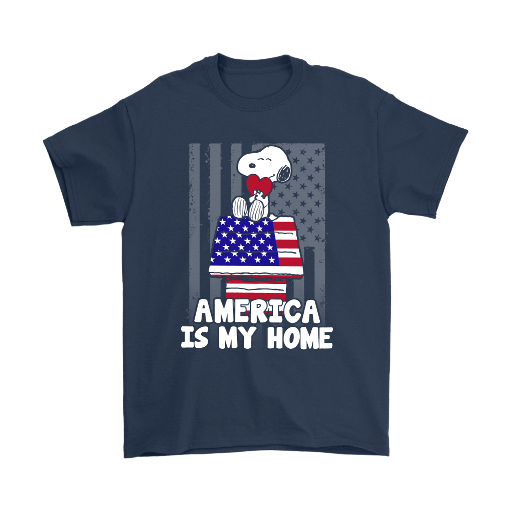 America Is My Home Independence Day 4th Of July Snoopy Shirts 3