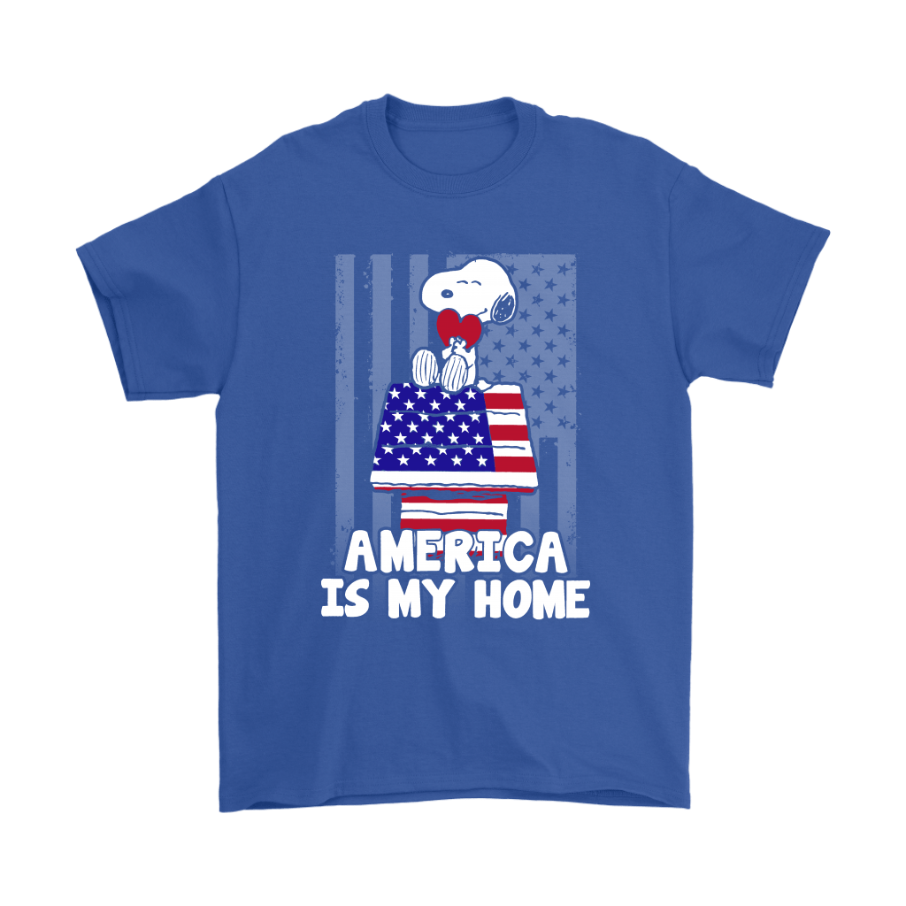America Is My Home Independence Day 4th Of July Snoopy Shirts 5