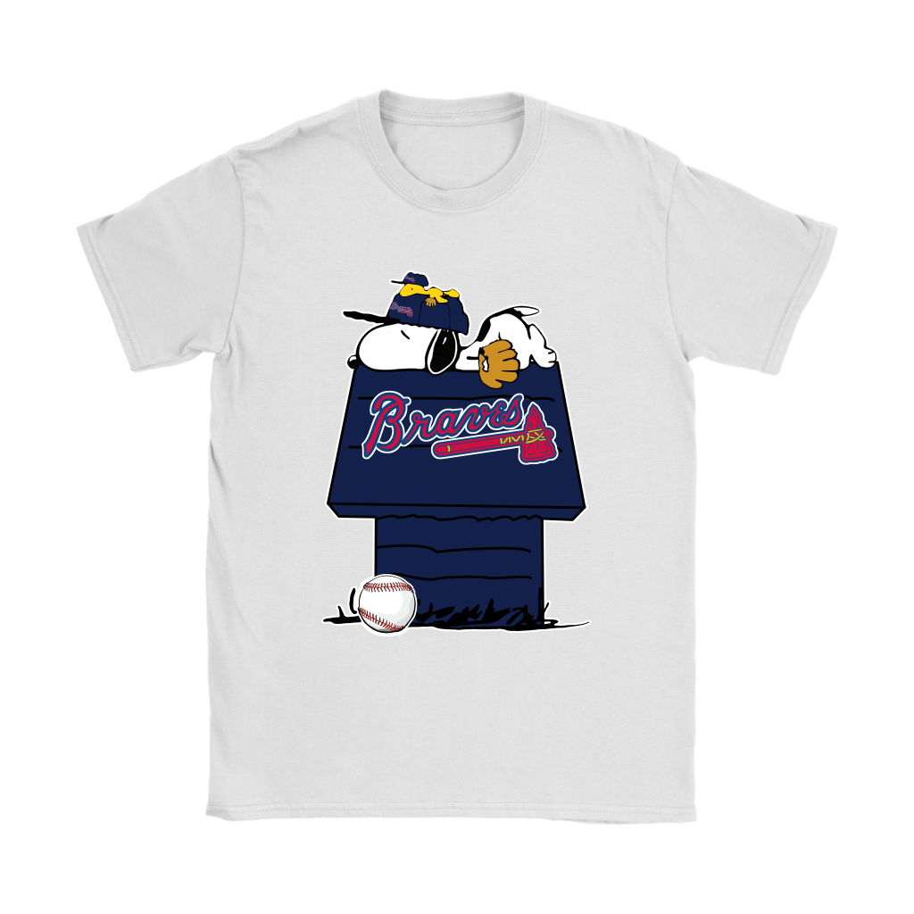 Atlanta Braves Snoopy And Woodstock Resting Together MLB Shirts 14