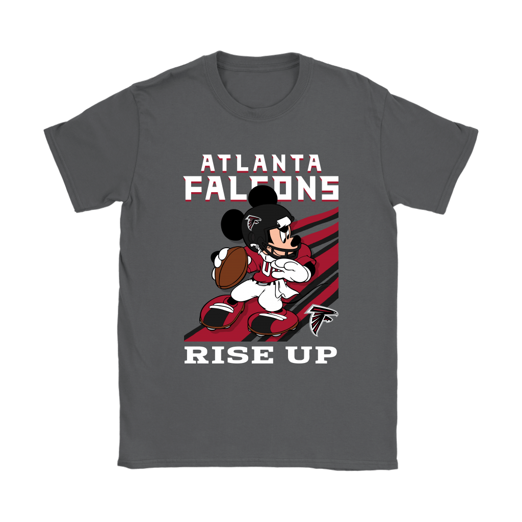 Atlanta Falcons Slogan Rise Up Mickey Mouse NFL Shirts 8