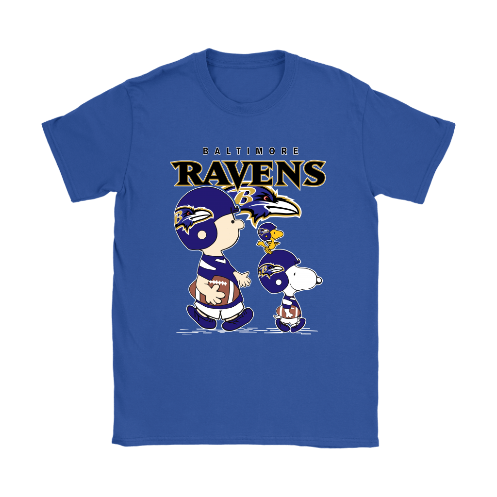 Baltimore Ravens Let's Play Football Together Snoopy NFL Shirts 11
