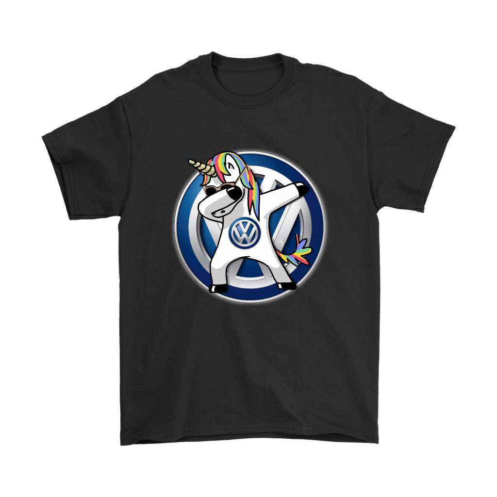 Car - I Flippin' Love Volkswagen Dabbing Hip Hop Unicorn Shirts 1