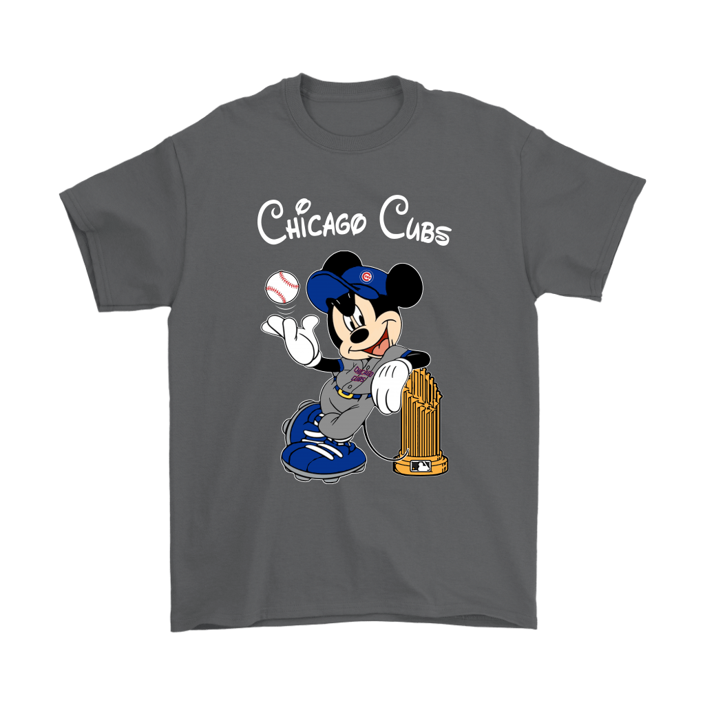 Chicago Cubs Mickey Taking The Trophy MLB 2018 Shirts 2