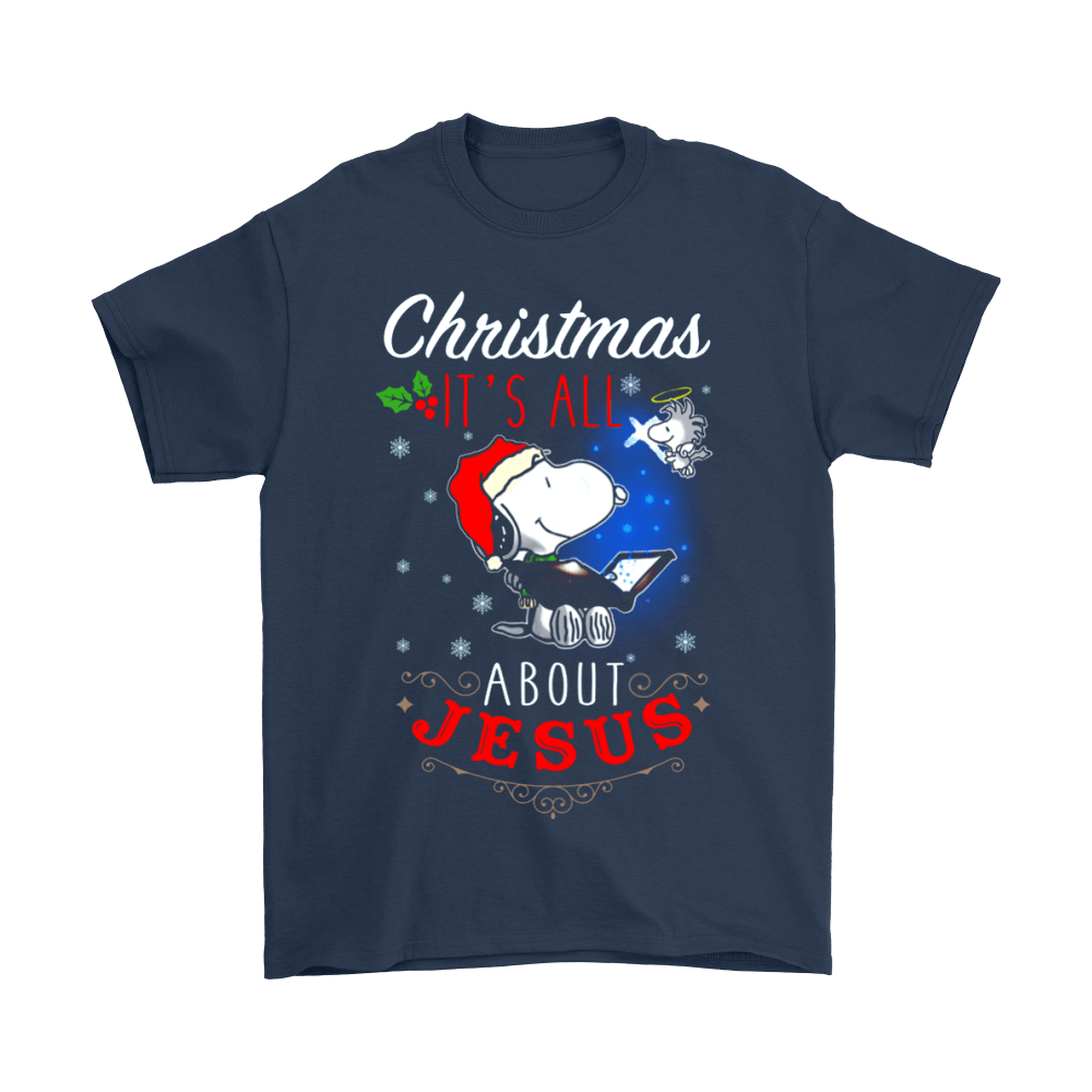Christmas It's All About Jesus Woodstock And Snoopy Shirts 2