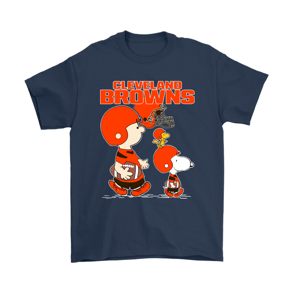 Cleveland Browns Let's Play Football Together Snoopy NFL Shirts 3
