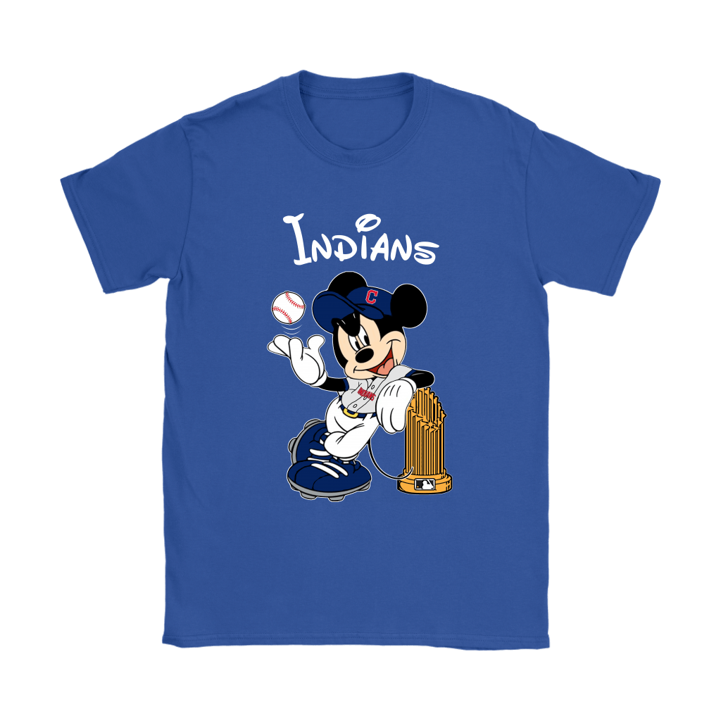 Cleveland Indians Mickey Taking The Trophy MLB 2018 Shirts 13