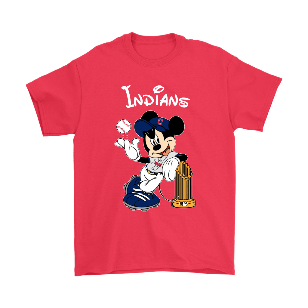 Cleveland Indians Mickey Taking The Trophy MLB 2018 Shirts 5