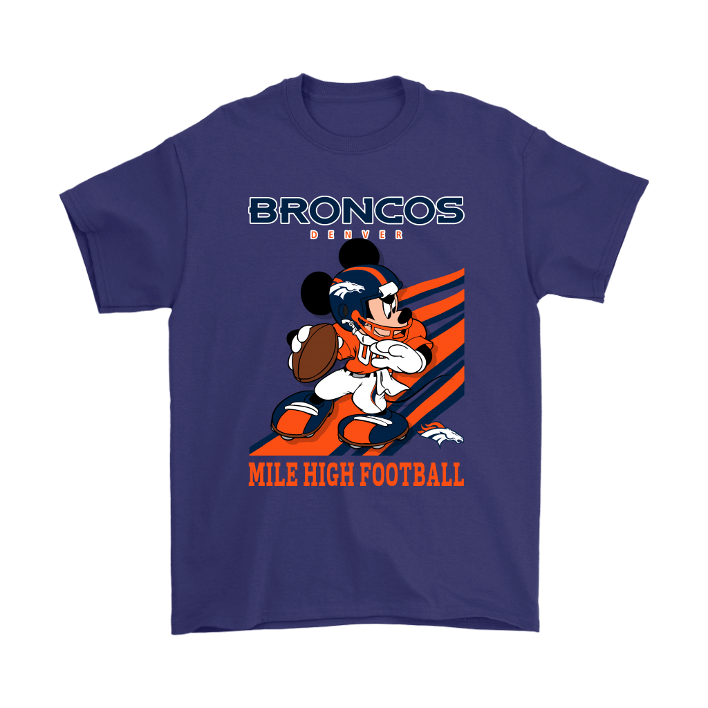 Denver Broncos Slogan Mile High Football Mickey Mouse NFL Shirts 4
