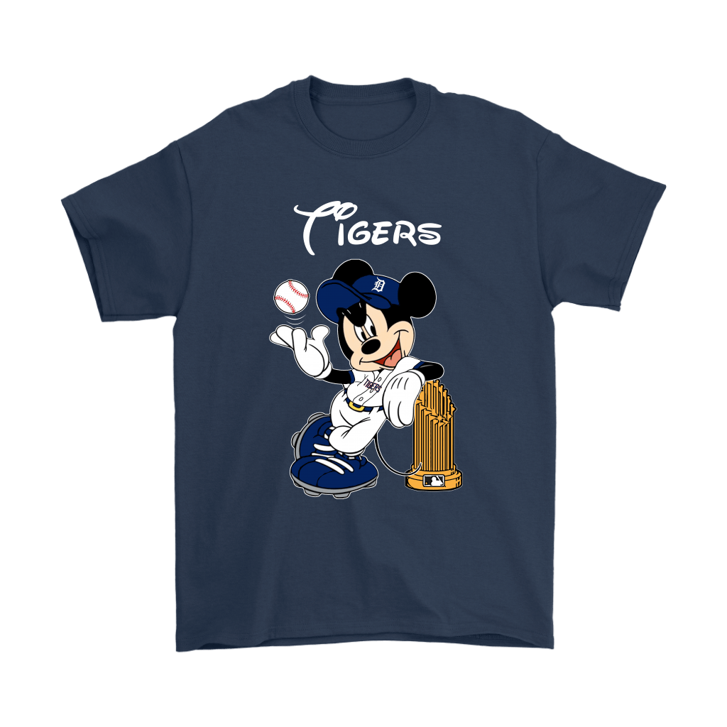 Detroit Tigers Mickey Taking The Trophy MLB 2018 Shirts 3