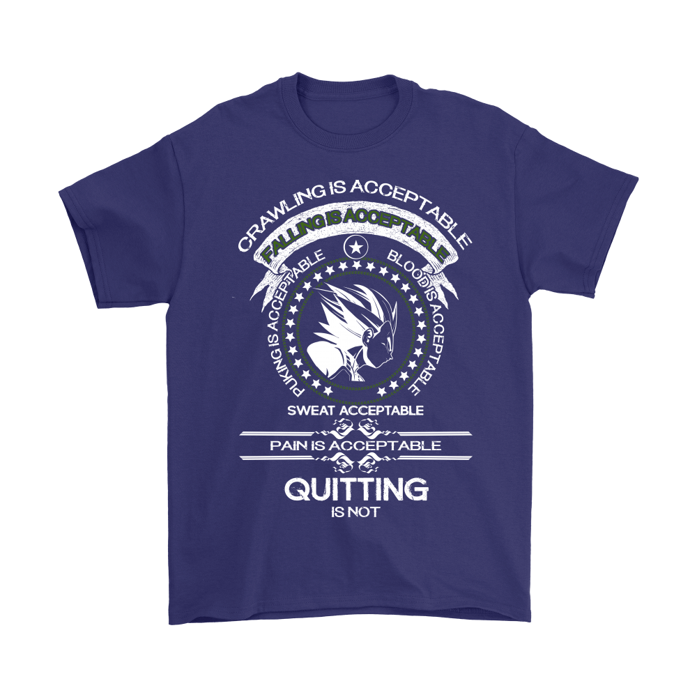 Dragon Ball - Crawling Is Acceptable Falling Is Acceptable Shirts 3