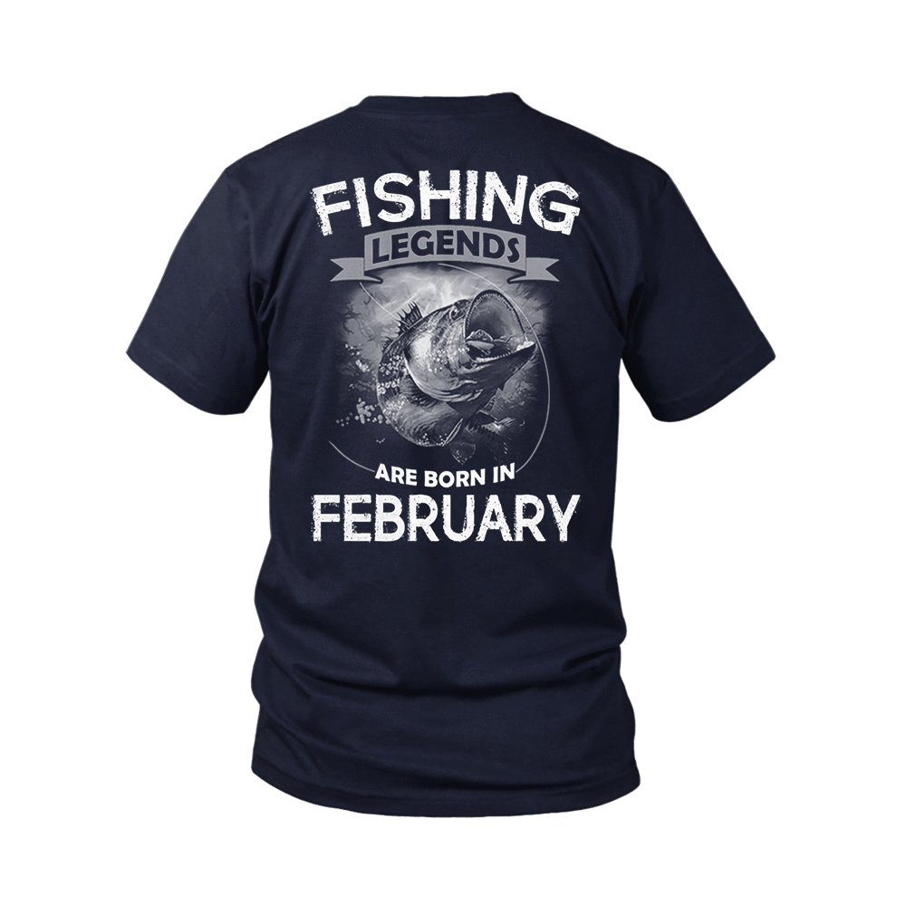 Fishing Legends Are Born In February Shirts 5