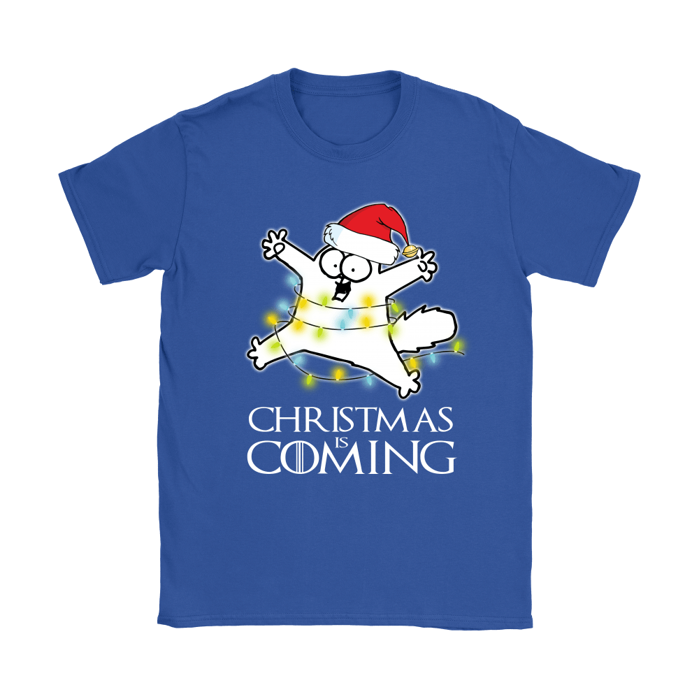 Game Of Thrones Christmas Is Coming Simon's Cat Shirts 13