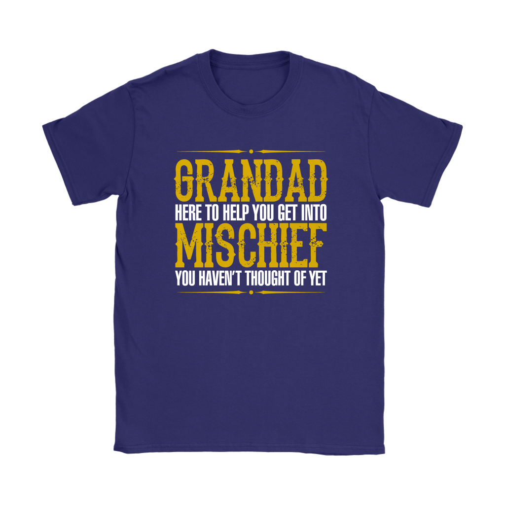 Grandad Here To Help You Get Into Mischief Shirts 10