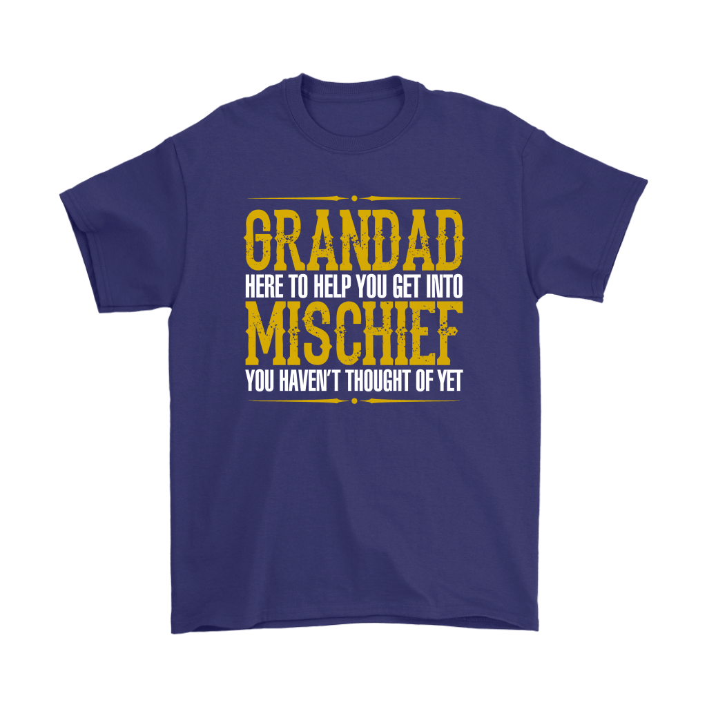Grandad Here To Help You Get Into Mischief Shirts 4