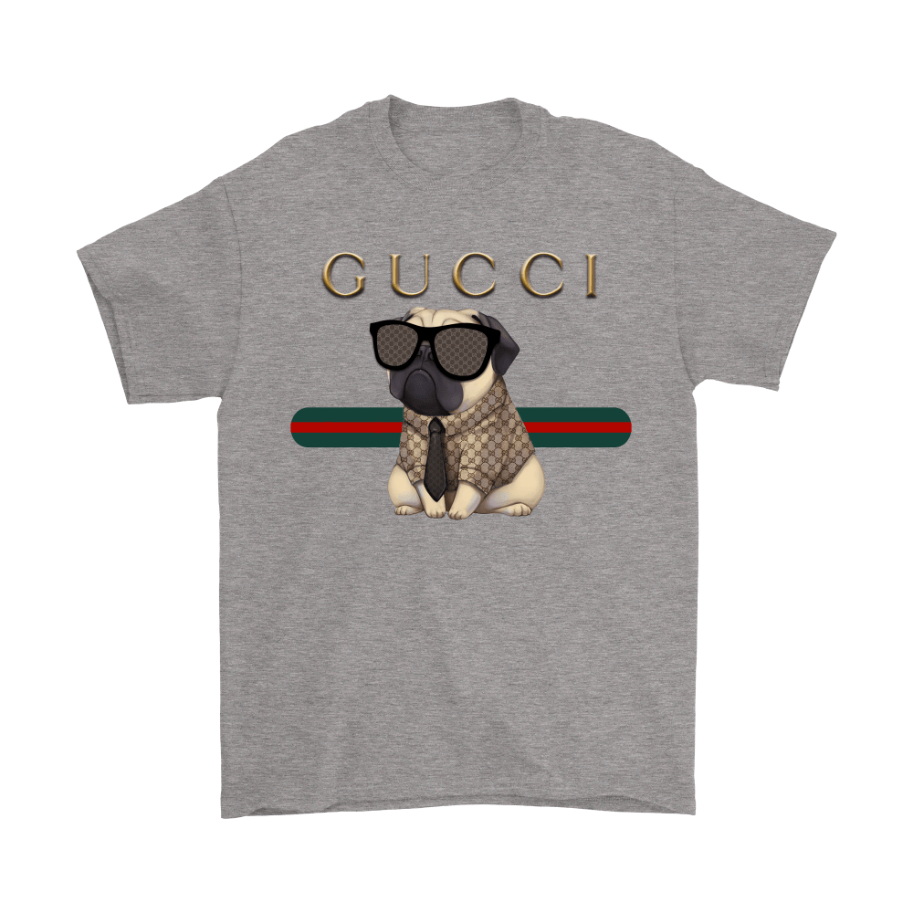 Gucci Stripe Pug Stay Stylish Dog-Lovers Shirts 7