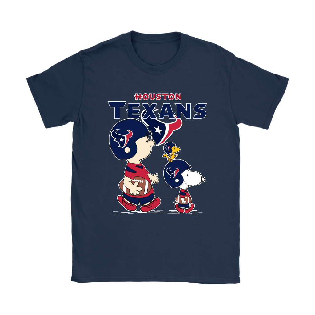 Houston Texans Let's Play Football Together Snoopy NFL Shirts 10