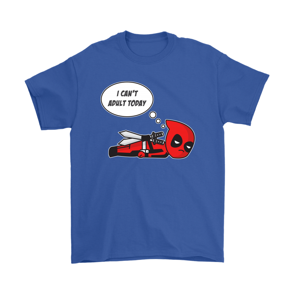 I Can't Adult Today Marvel Lazy Deadpool Shirts 5