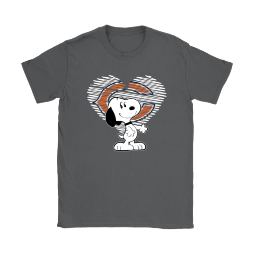 I Love Chicago Bears Snoopy In My Heart NFL Shirts 8