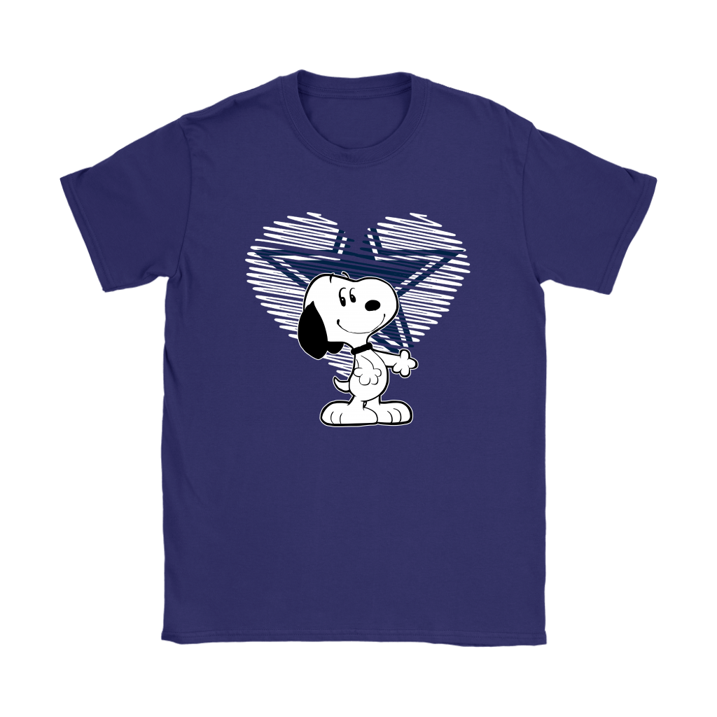 I Love Dallas Cowboys Snoopy In My Heart NFL Shirts 10