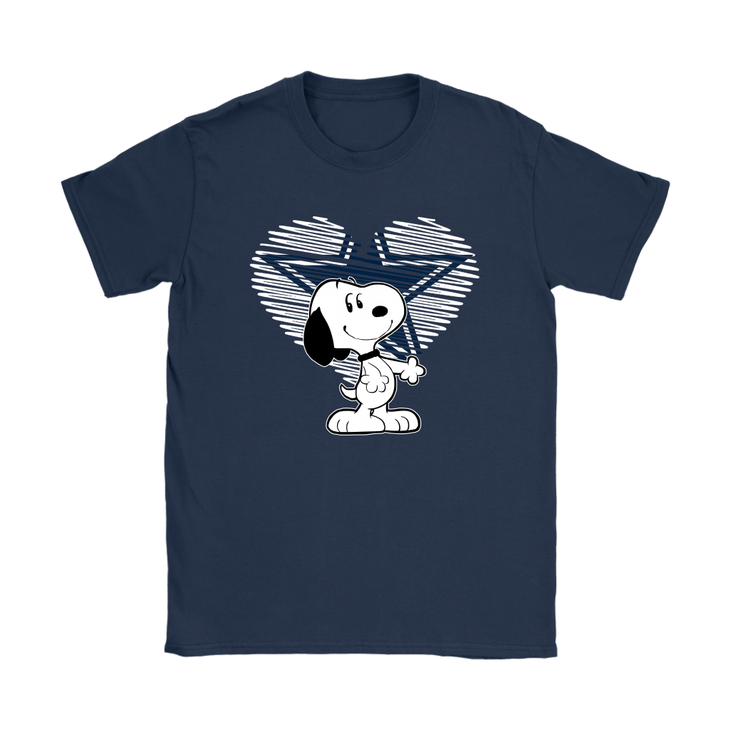 I Love Dallas Cowboys Snoopy In My Heart NFL Shirts 9