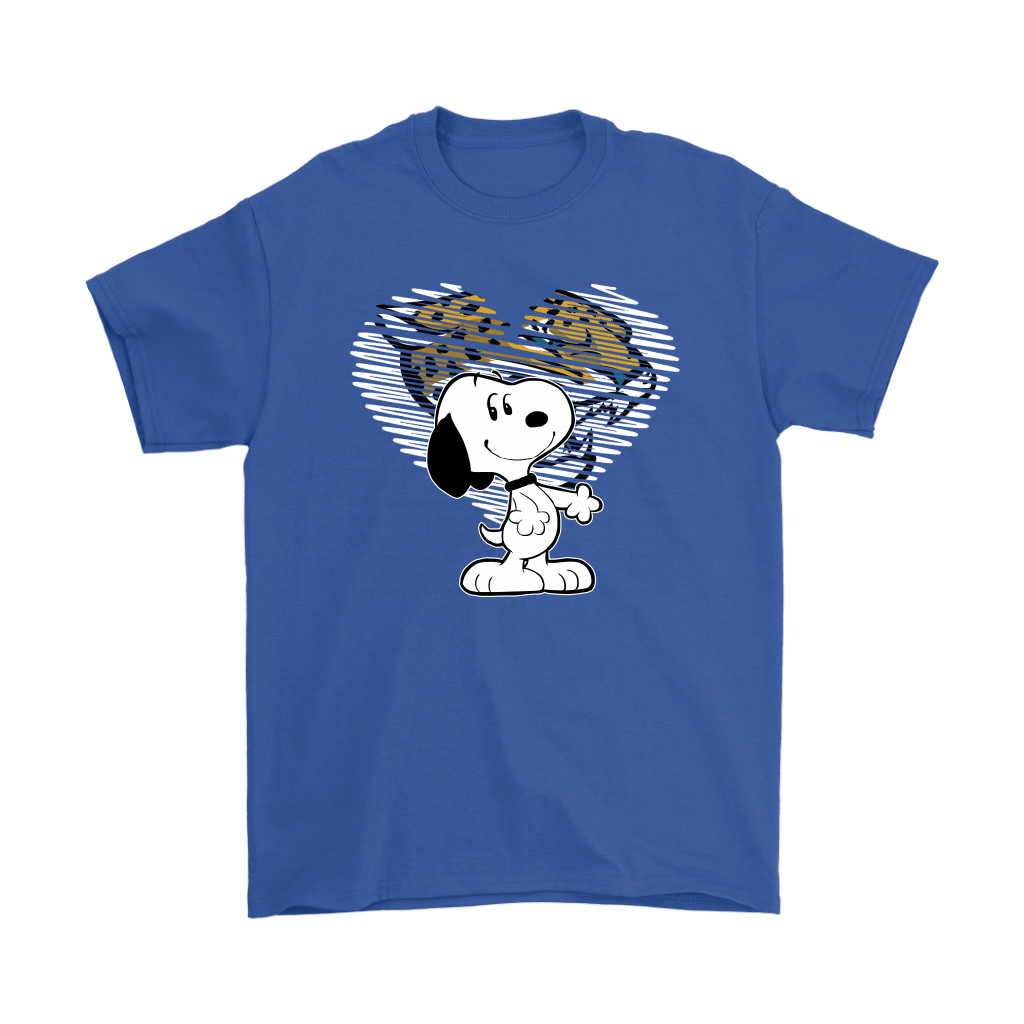 I Love Jacksonville Jaguars Snoopy In My Heart NFL Shirts 5