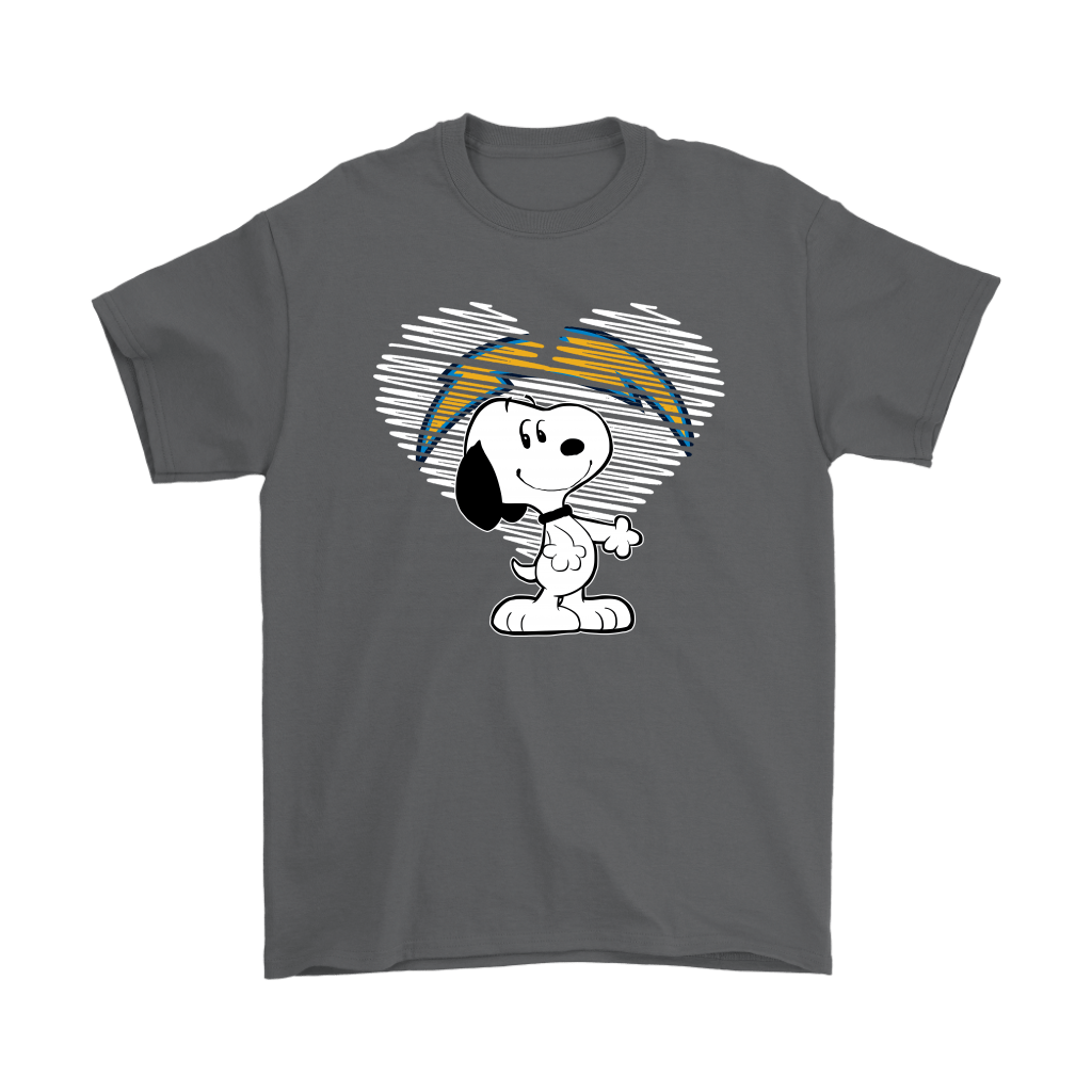 I Love Los Angeles Chargers Snoopy In My Heart NFL Shirts 2