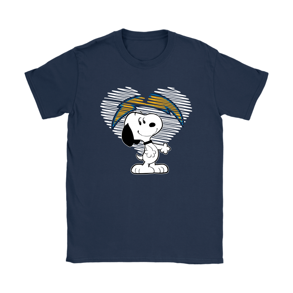 I Love Los Angeles Chargers Snoopy In My Heart NFL Shirts 9