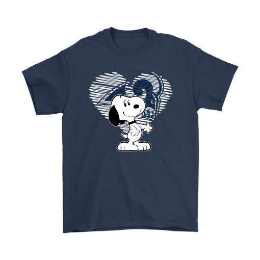 I Love Los Angeles Rams Snoopy In My Heart NFL Shirts 3
