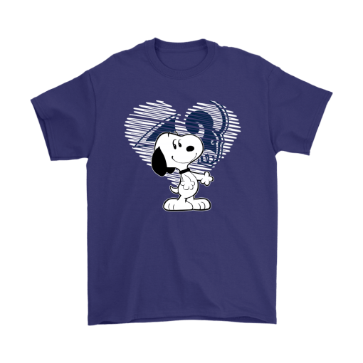 I Love Los Angeles Rams Snoopy In My Heart NFL Shirts 4