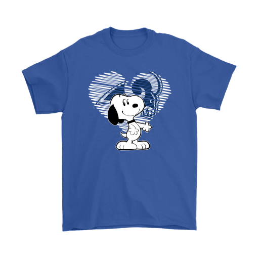 I Love Los Angeles Rams Snoopy In My Heart NFL Shirts 5