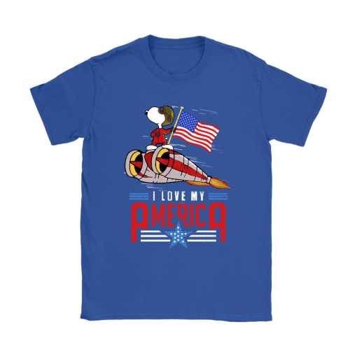 I Love My America Snoopy Independence Day 4th Of July Shirts 12