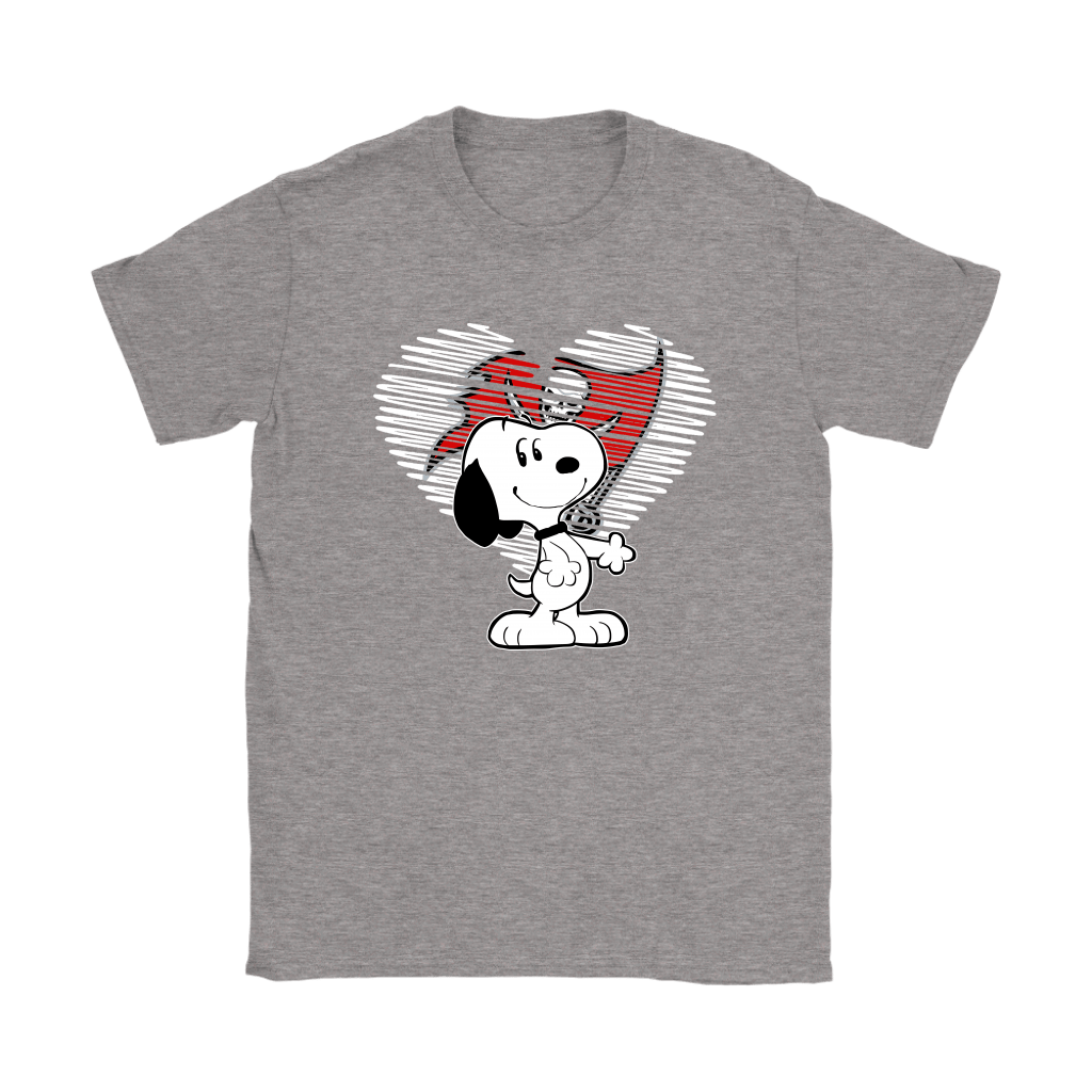 I Love Tampa Bay Buccaneers Snoopy In My Heart NFL Shirts 12