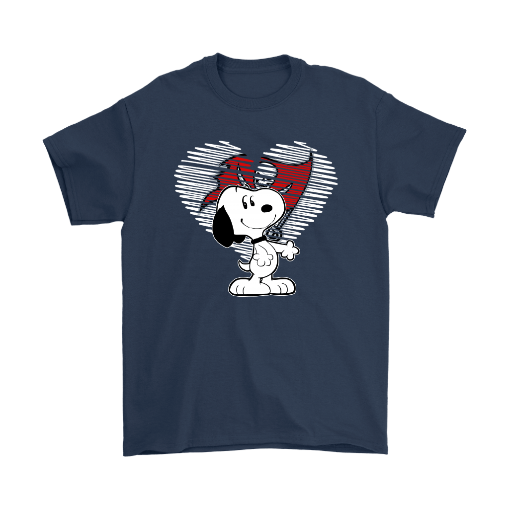 I Love Tampa Bay Buccaneers Snoopy In My Heart NFL Shirts 3