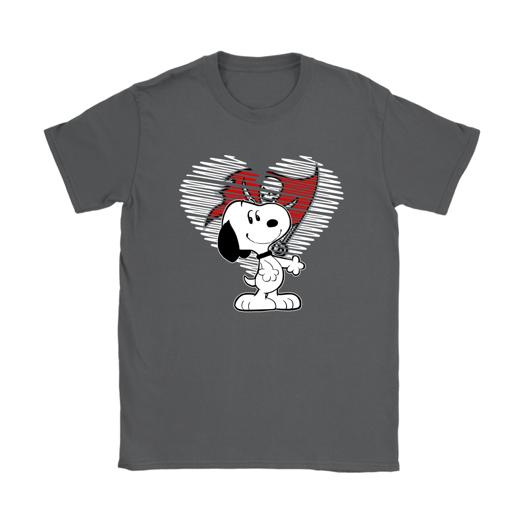 I Love Tampa Bay Buccaneers Snoopy In My Heart NFL Shirts 8