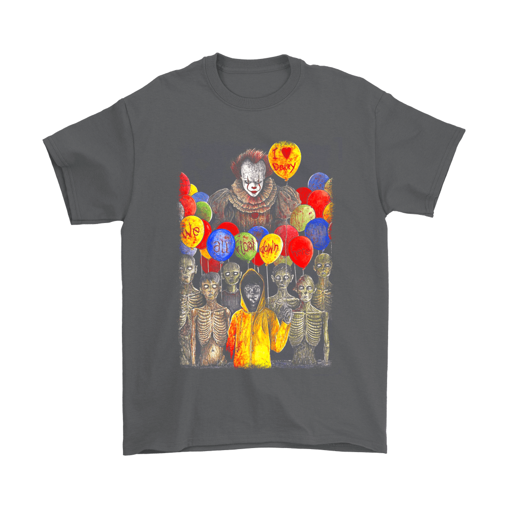 IT Pennywise I Love Derry We All Float Down Here Stephen King Shirts 2