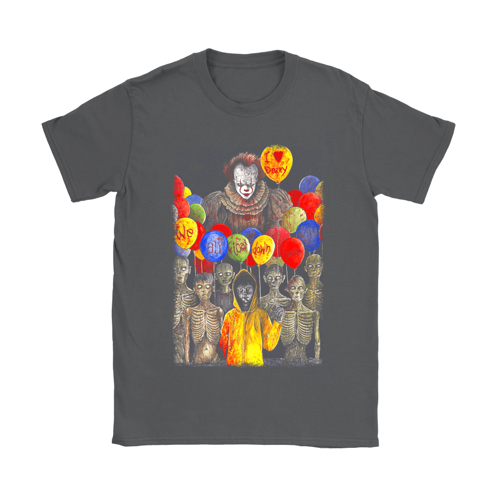 IT Pennywise I Love Derry We All Float Down Here Stephen King Shirts 7