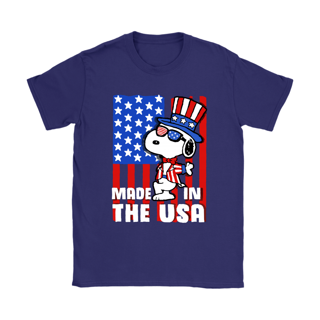 Joe Cool Made In The USA Independence Day 4th Of July Snoopy Shirts 10