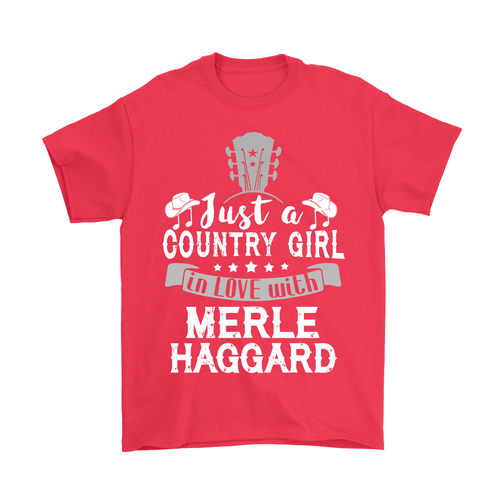 Just A Country Girl In Love With Merle Haggard Shirts 5
