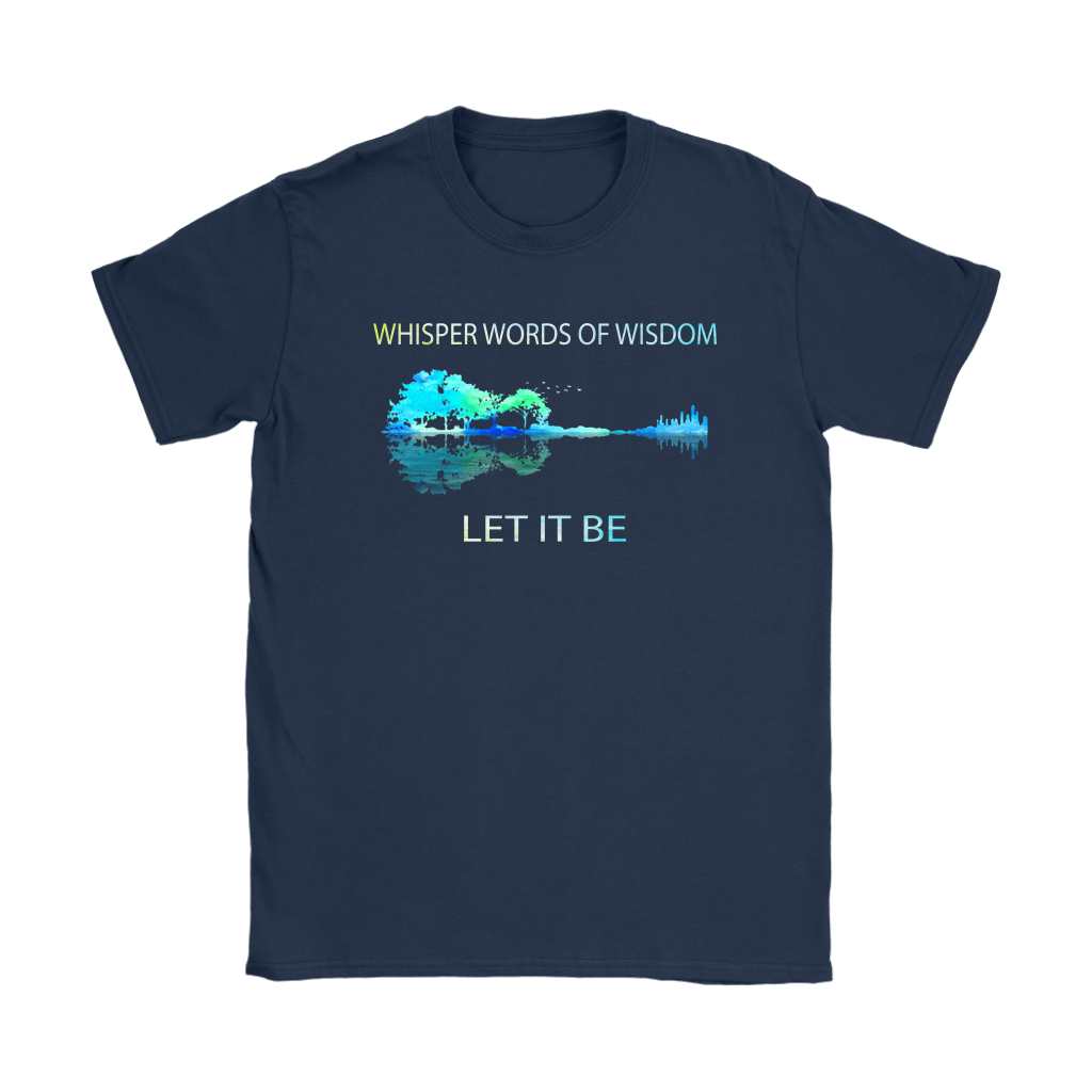 Let It Be The Beatles Guitar Forest Reflection Shirts 8