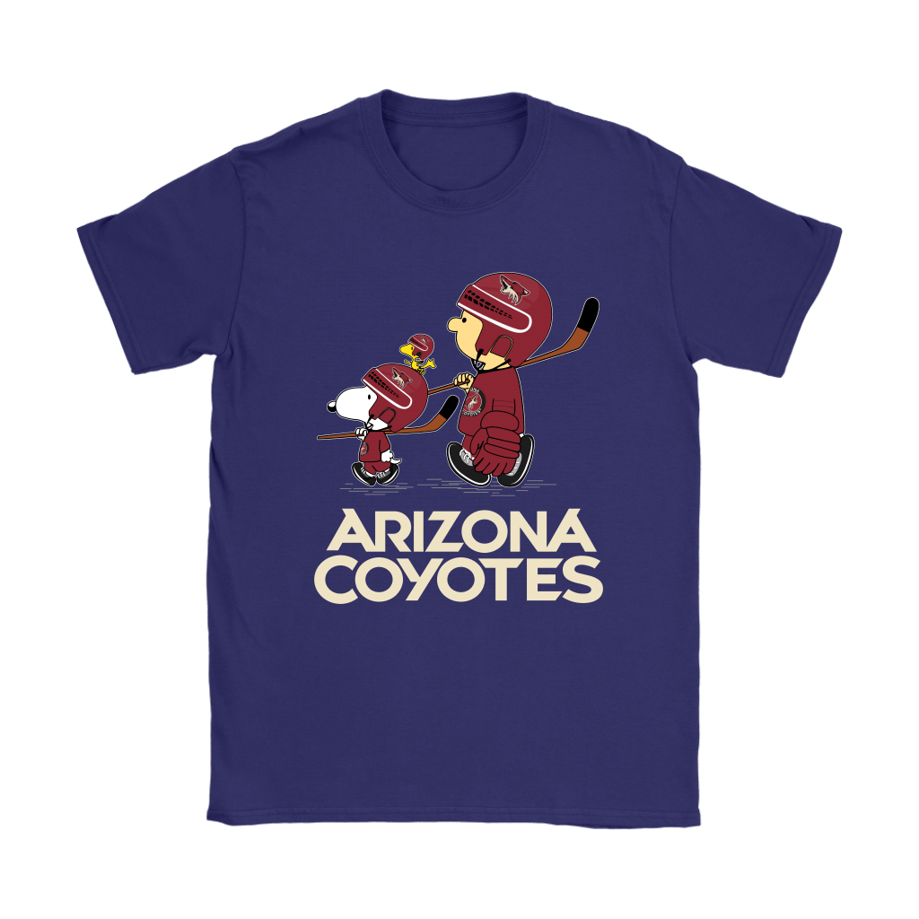 Let's Play Arizona Coyotes Ice Hockey Snoopy NHL Shirts 10