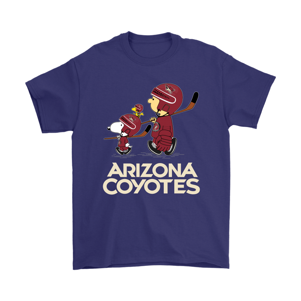 Let's Play Arizona Coyotes Ice Hockey Snoopy NHL Shirts 4