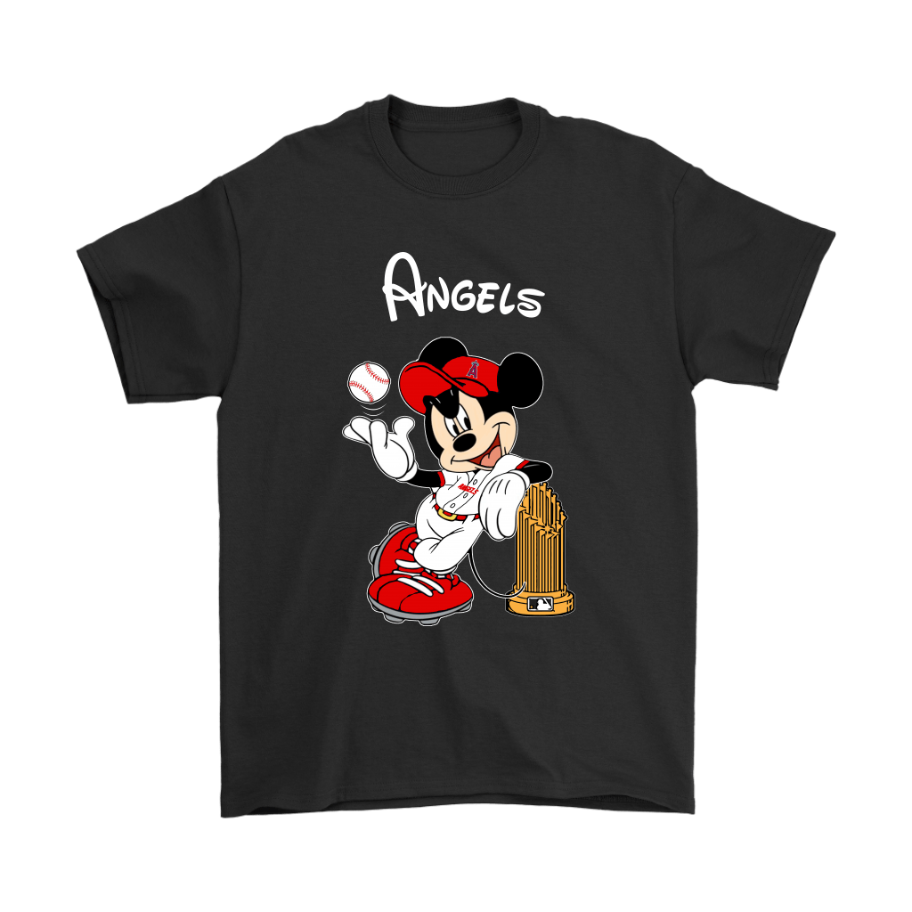 Los Angeles Angels Mickey Taking The Trophy MLB 2018 Shirts 1