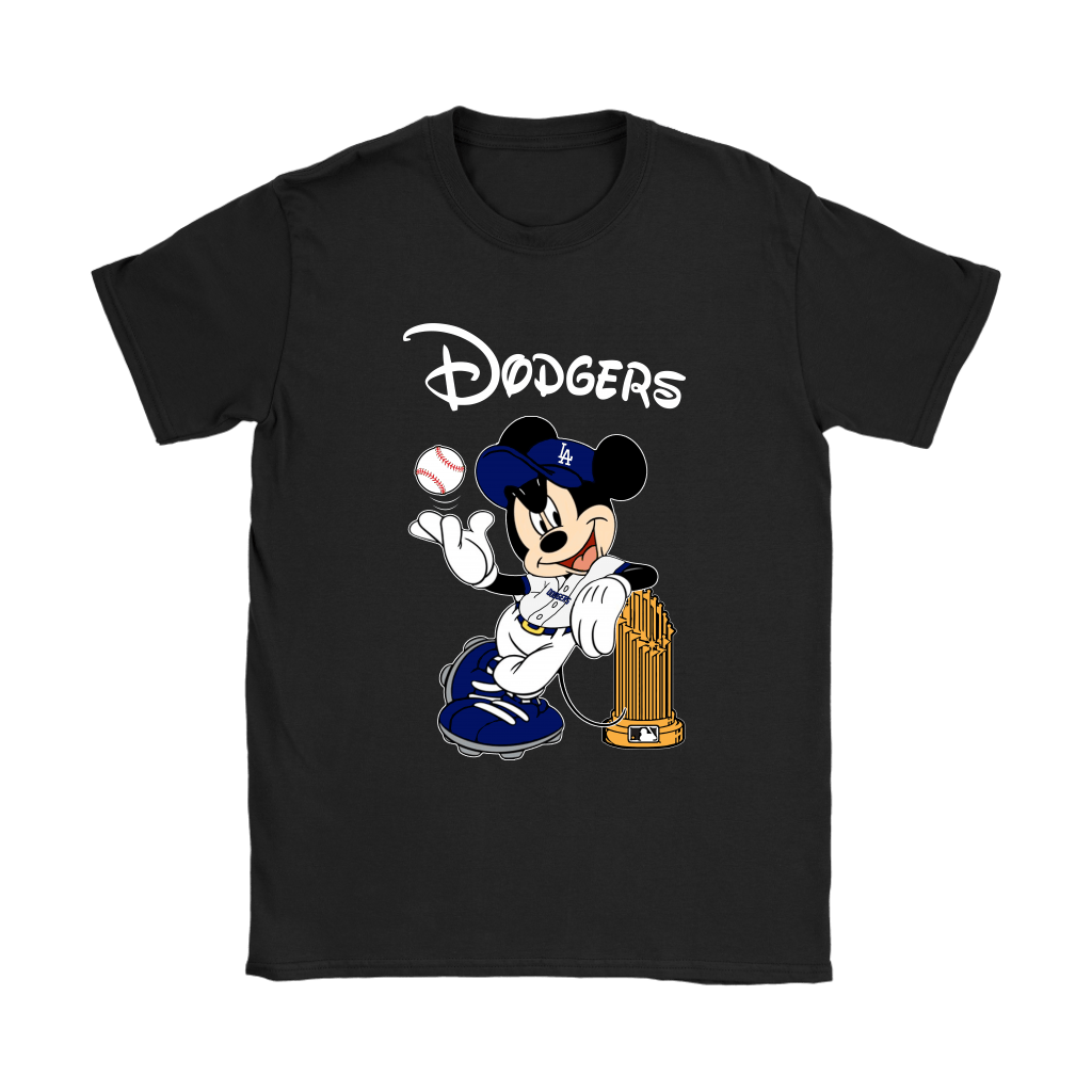 Los Angeles Dodgers Mickey Taking The Trophy MLB 2018 Shirts 8