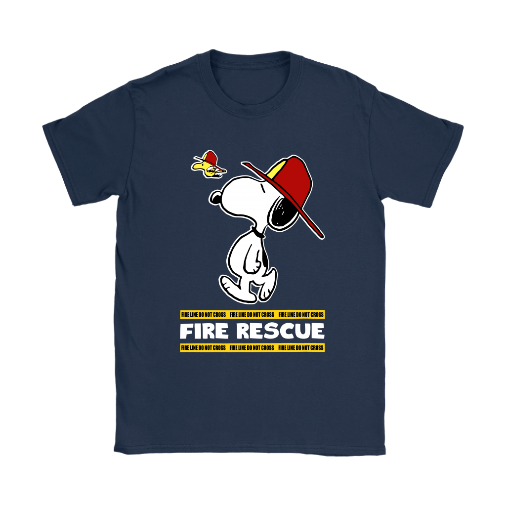 Firefighter Fire Rescue Woodstock Snoopy Shirts 10