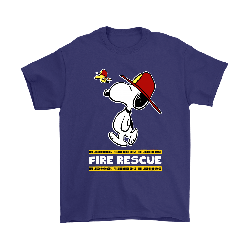 Firefighter Fire Rescue Woodstock Snoopy Shirts 4