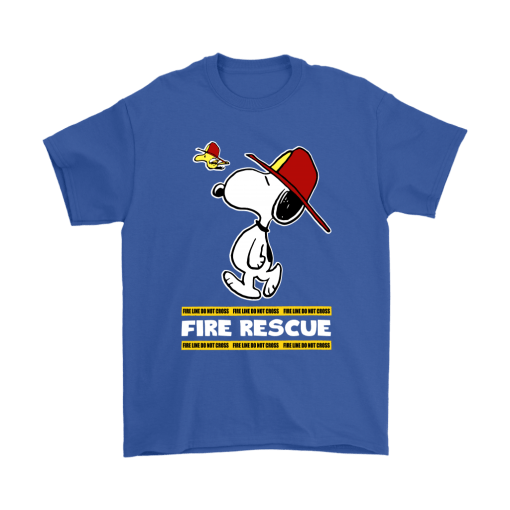 Firefighter Fire Rescue Woodstock Snoopy Shirts 6