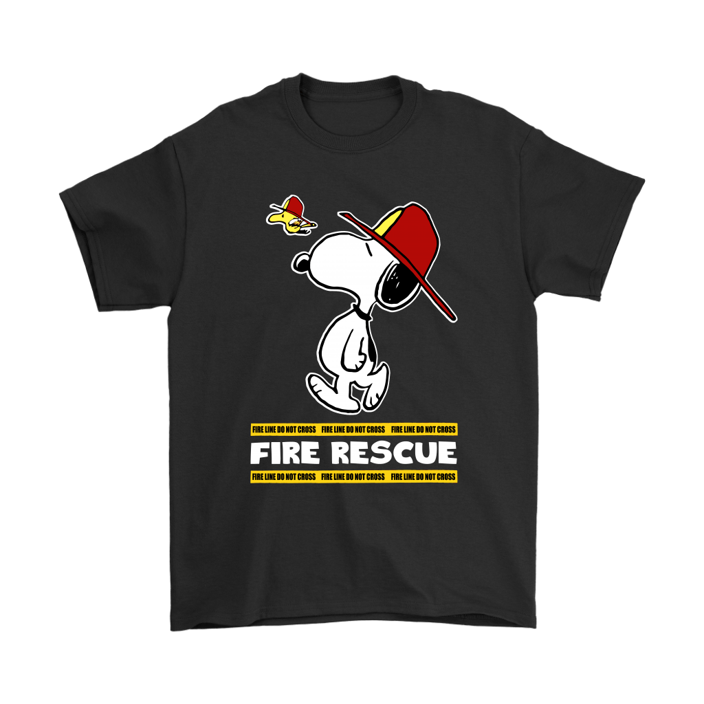 Firefighter Fire Rescue Woodstock Snoopy Shirts 1