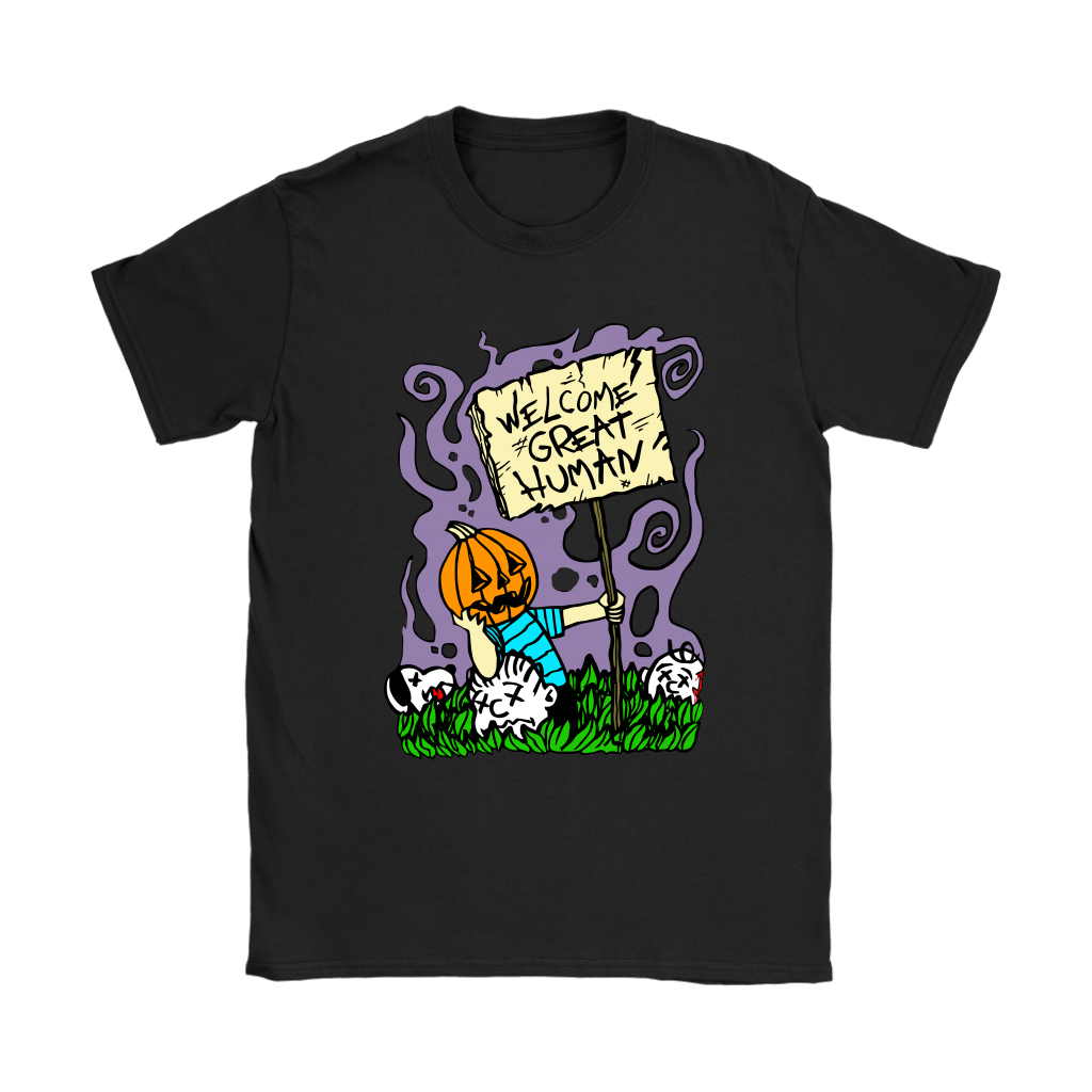 Great Pumpkin Massacre Welcome Great Human Halloween Snoopy Shirts 8