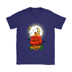 Halloween Trick Or Treat Pumbkin Woodstock And Snoopy Shirts 15