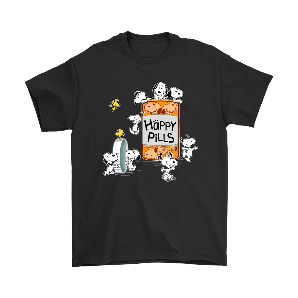 Happy Pills Always Be Happy Woodstock And Snoopy Shirts 1